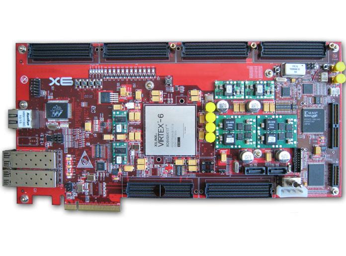 XC6VSX475T,逻辑信号处理 2路AD,2路DA,数字信号处理,串行收发器,千兆以太网,LTE,WIFI-OFDM
