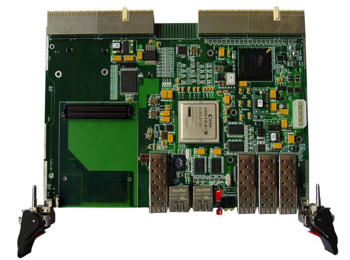 基于xilinx 公司v5 系列 fpga高速接口功能验证cpci平台