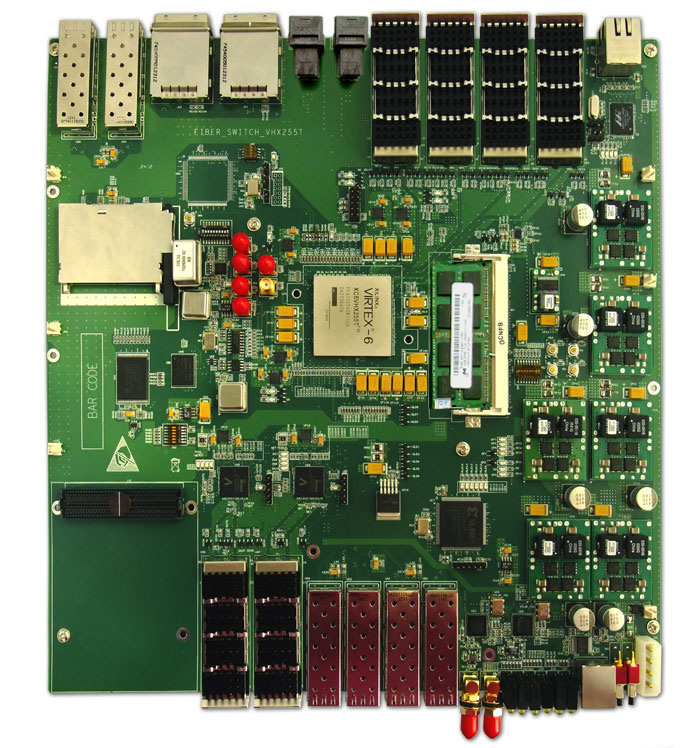 XC6VHX255T,�����������,switch ƽ̨,������֤ϵͳ,XFPģ��,������,GTH�ӿ�,Xilinx,FPGA,GTX�ӿ�