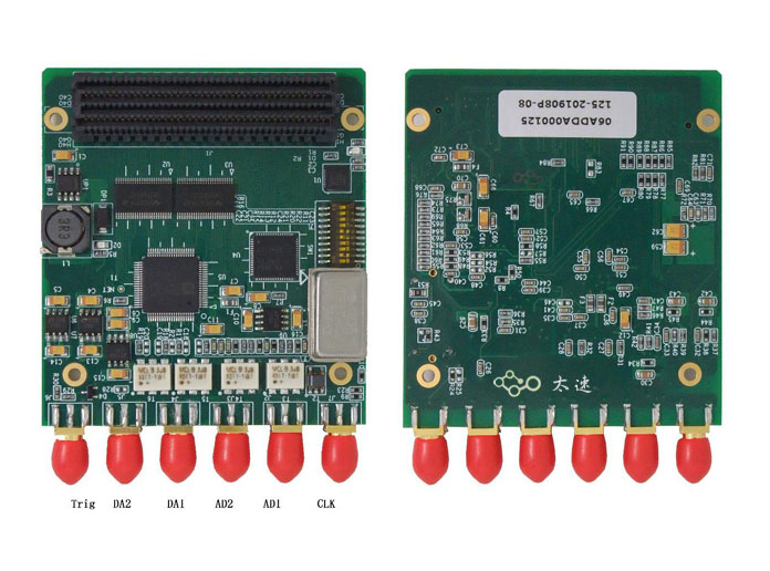 AD,DA,FMC子卡模块,xilinx,开发板,模拟信号,中频信号采集,信号发出,SPI,两路AD,ADS62P45,AD9777,温补晶振,AD9552,外时钟输入外触发输入