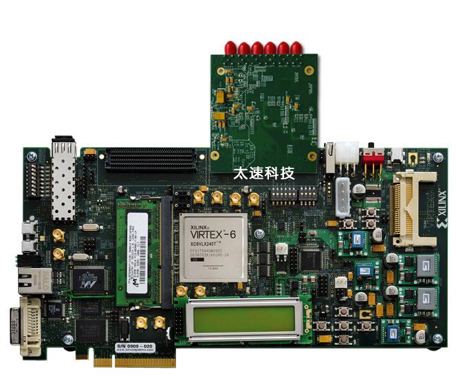 图-参2 与开发板xilinx virtex-6 fpga ml605组合使用