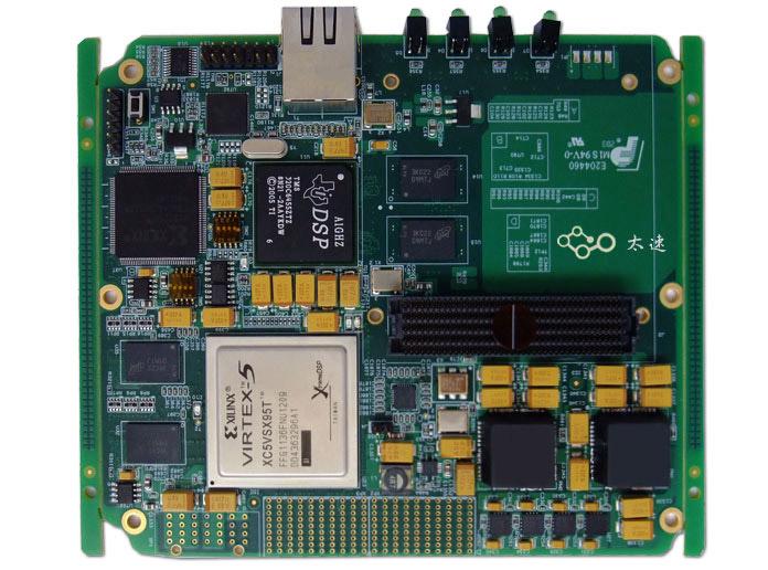 TI,DSP,TMS320,C6455,Xilinx,FPGA,XC5VSX95T,高速数据处理,千兆网口,HPC接口,FMC,软件无线电,基带信号处理,无线仿真平台,高速图像采集,高速图像处理,EMIF,Mcbps,雷达,图像数据采集,广播电视,图像FMC