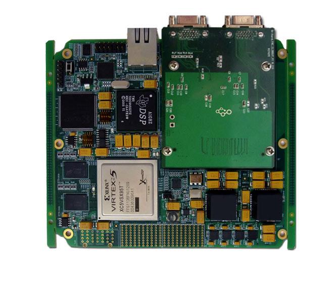 该dsp fpga高速信号采集处理板由我公司自主研发,包含一片ti dsp tms