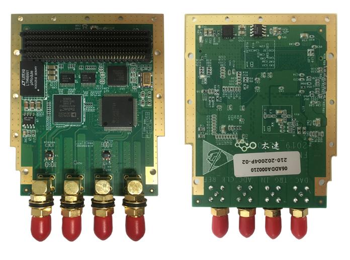 FMC子卡,2路DA,2路AD,模拟信号采集,雷达系统测试,SMA连接,模数转换,数模转换,AD9516,LVPEL时钟输出,AD9739,4DSP公司
