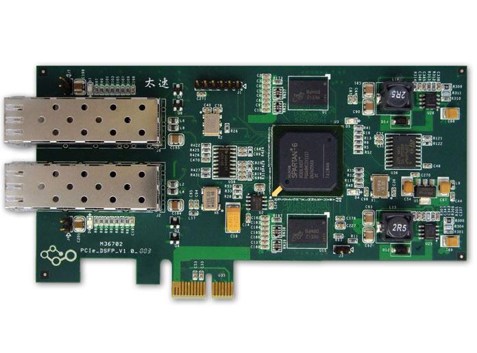 FPGA,Spartan6,双路光纤,PCIe采集卡,2路光纤卡,xilinx,FPGA,乒乓操作,PCI Express接口,Master DMA操作,电力网关隔离卡,SFP模块,光纤接口,数据采集,数据传输,图像数据采集,网关加密卡